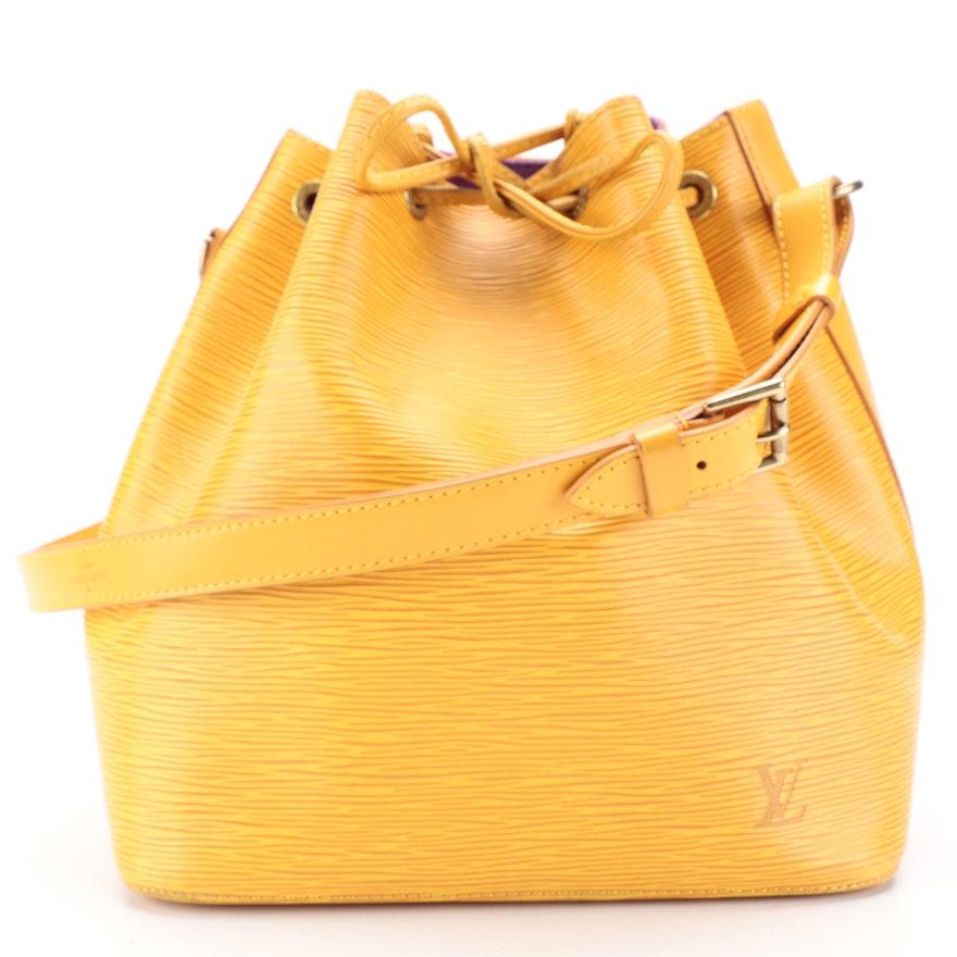 Louis Vuitton Petit Noé in Mandarine Epi Leather