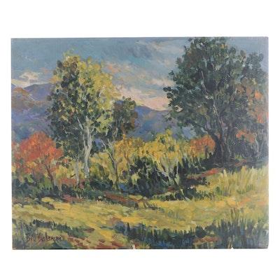 """Bill Salamon Acrylic Painting """"Autumn Trees"""""""