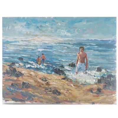 """Bill Salamon Oil Painting """"Summer Days"""""""
