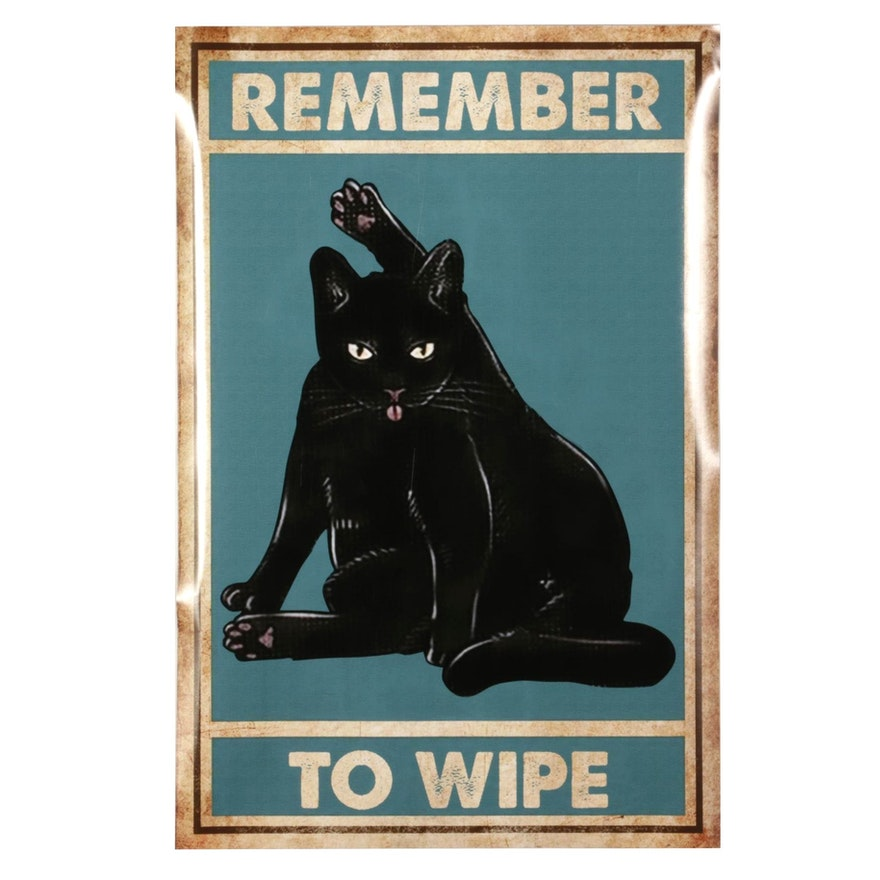 Black Cat Giclée Poster, 21st Century