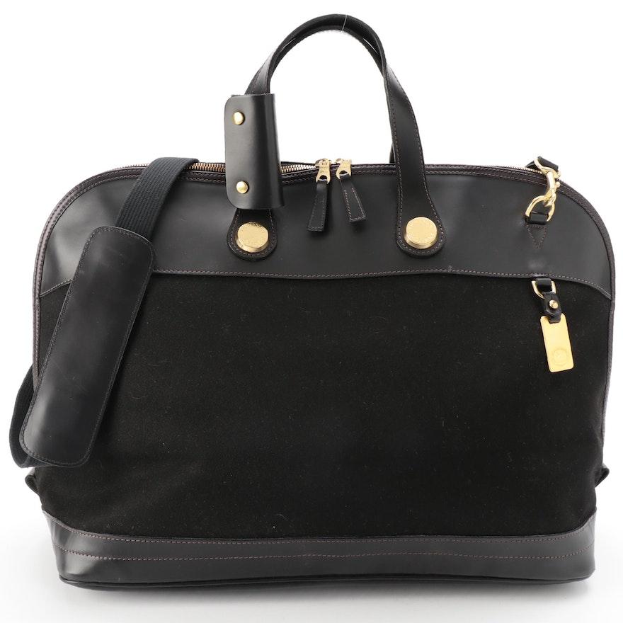 Dooney & Bourke Cabriolet Weekender Bag in Black with Leather Trim