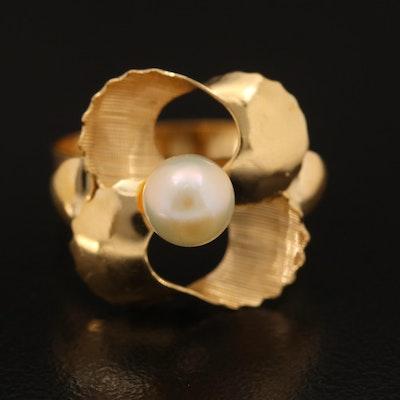 18K Pearl Ribbon Ring