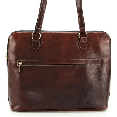 Terrida Zebra Print Calf Hair and Brown Leather Shoulder Bag