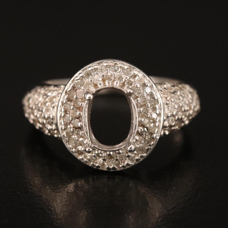 10K Diamond Semi-Mount Ring