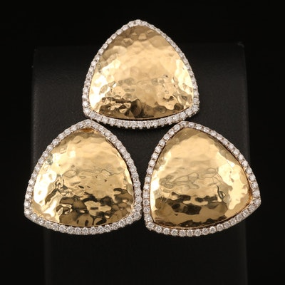 18K Diamond Pendant and Earring Set