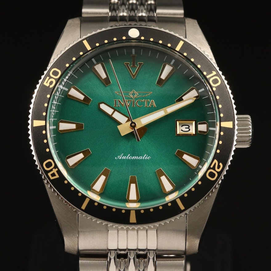 Invicta Vintage Automatic Stainless Steel Wristwatch