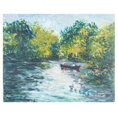 "Bill Salamon Acrylic Painting ""Paris"""