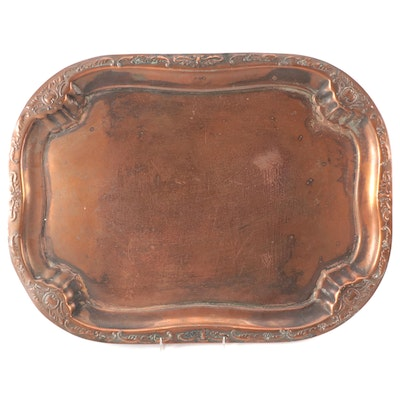 Victorian Copper Repoussé Tray, Late 19th/ Early 20th Century