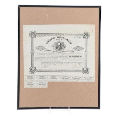 1863 CSA $500 Bond, Criswell 74