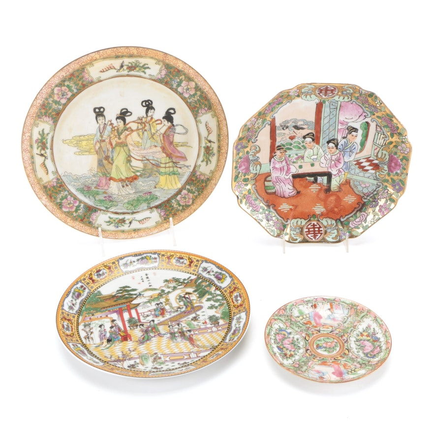 Chinese Rose Medallion and Porcelain Plates