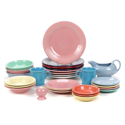 Homer Laughlin Fiesta Ceramic Cups, Plates, and Serving Dishes