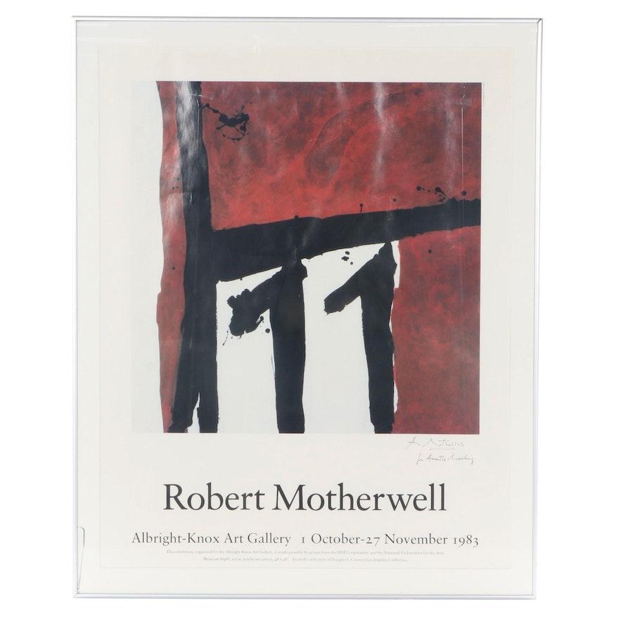 Robert Motherwell Offset Lithograph Exhibition Poster, 1983