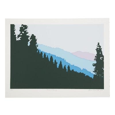 "Thomas Norulak Serigraph ""Yosemite Morning,"" 2018"