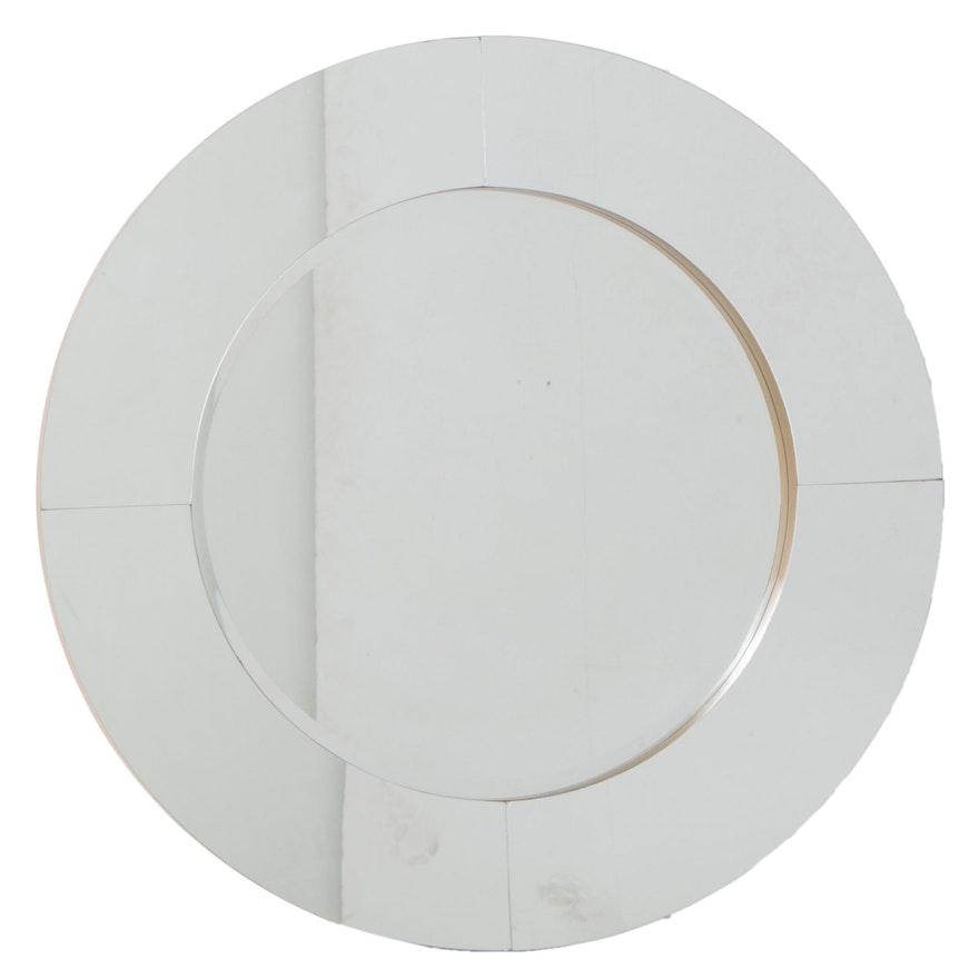 Contemporary Parcel-Gilt Round Mirror