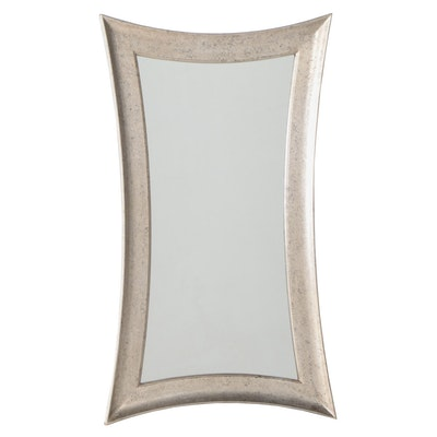 Modernist Style Silver-Gilt Composite Mirror