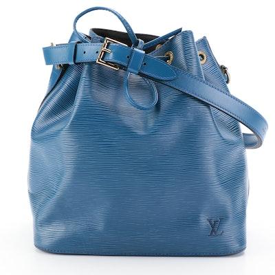 Louis Vuitton Petit Noé Shoulder Bag in Toledo Blue Epi Leather