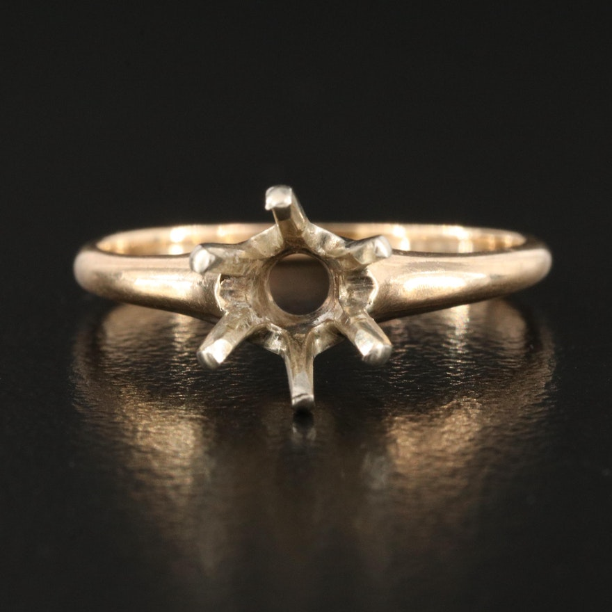 14K Open-Mount Solitaire Ring