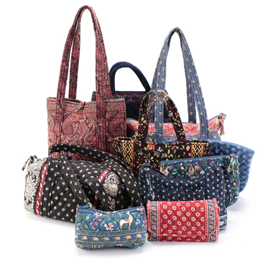 Vera Bradley Quilted Cotton Totes, Shoulder Bags and Toiletry Pouches