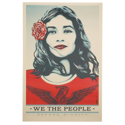 """Giclée After Shepard Fairey """"We the People: Defend Dignity"""""""