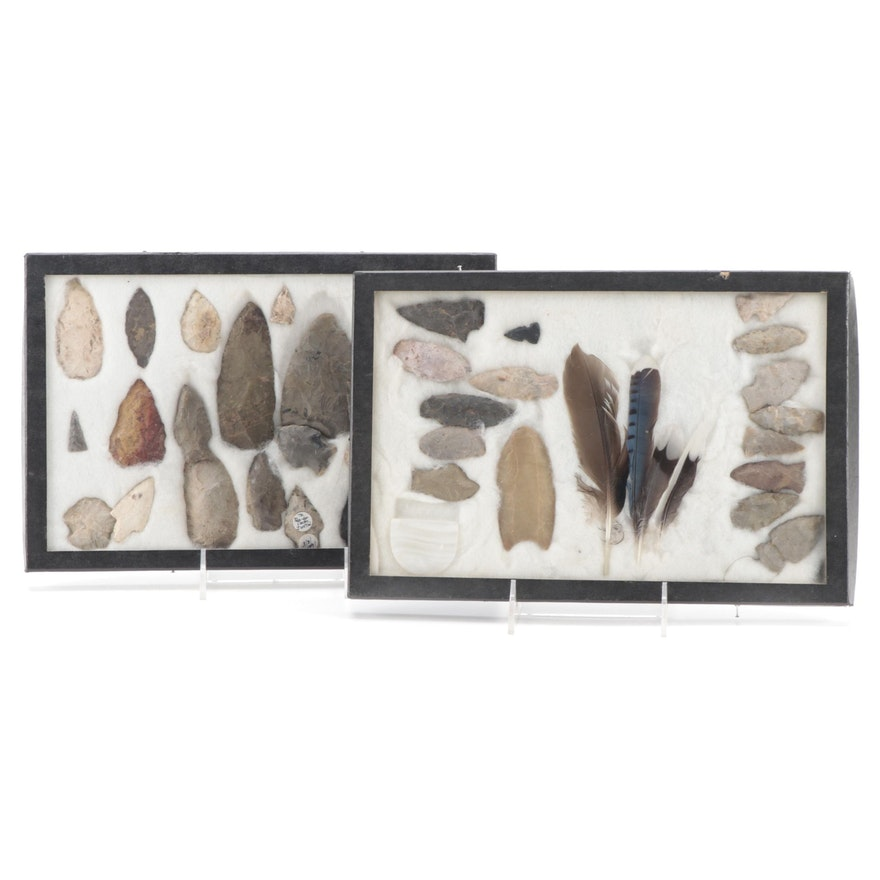 Native American Projectile Points and Lithic Tools Including Reproductions