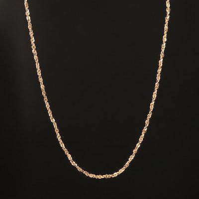 14K Sparkle Chain Necklace