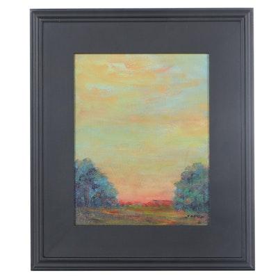 """Sanna Acrylic Painting """"Hope,"""" 2021"""