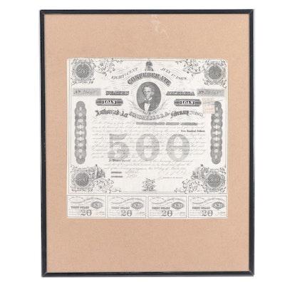 1863 CSA $500 War Bond, Criswell 124