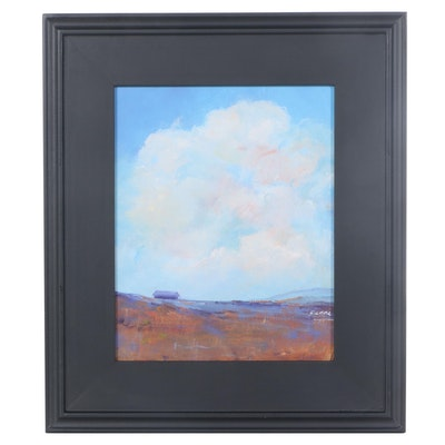 "Sanna Acrylic Painting ""Almost Home,"" 2021"