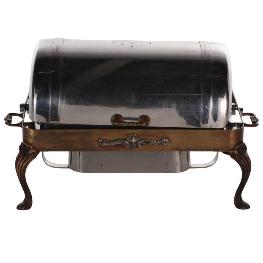 Rexcraft Stainless Steel and Brass Chafing Dish