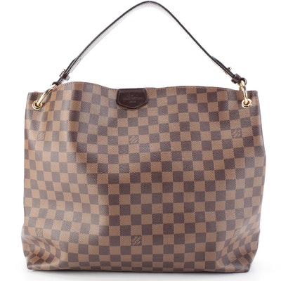 Louis Vuitton Graceful MM Hobo Bag in Damier Ebene Canvas