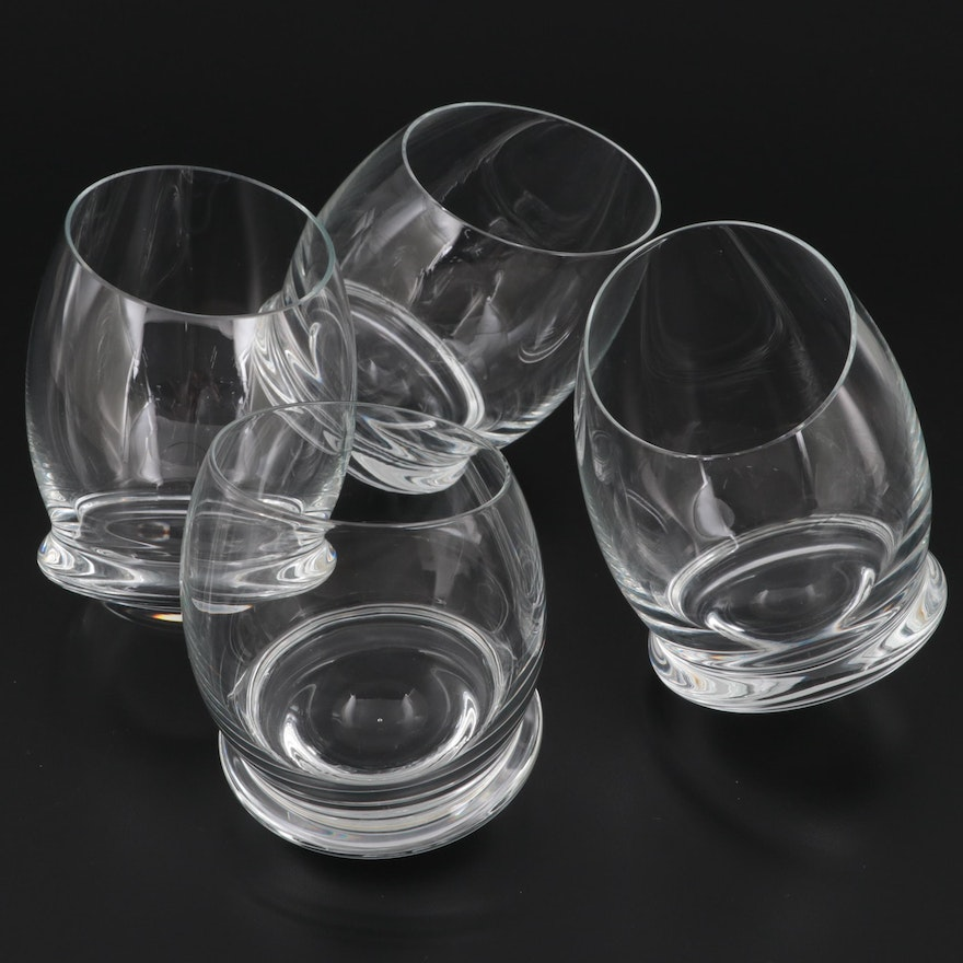 Rosenthal Rounded Base Crystal Schnapps Eggs, Late 20th Century
