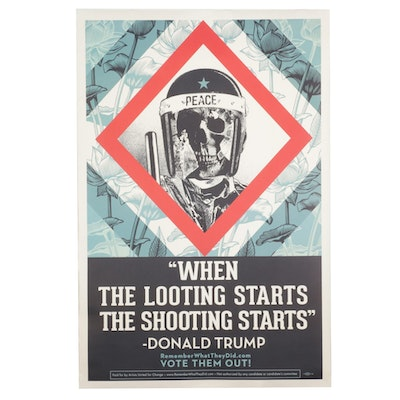 Shepard Fairey for Remember What They Did Offset Lithograph, Circa 2020