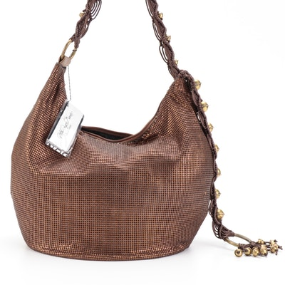 Whiting & Davis Bronze Tone Metal Mesh Shoulder Bag