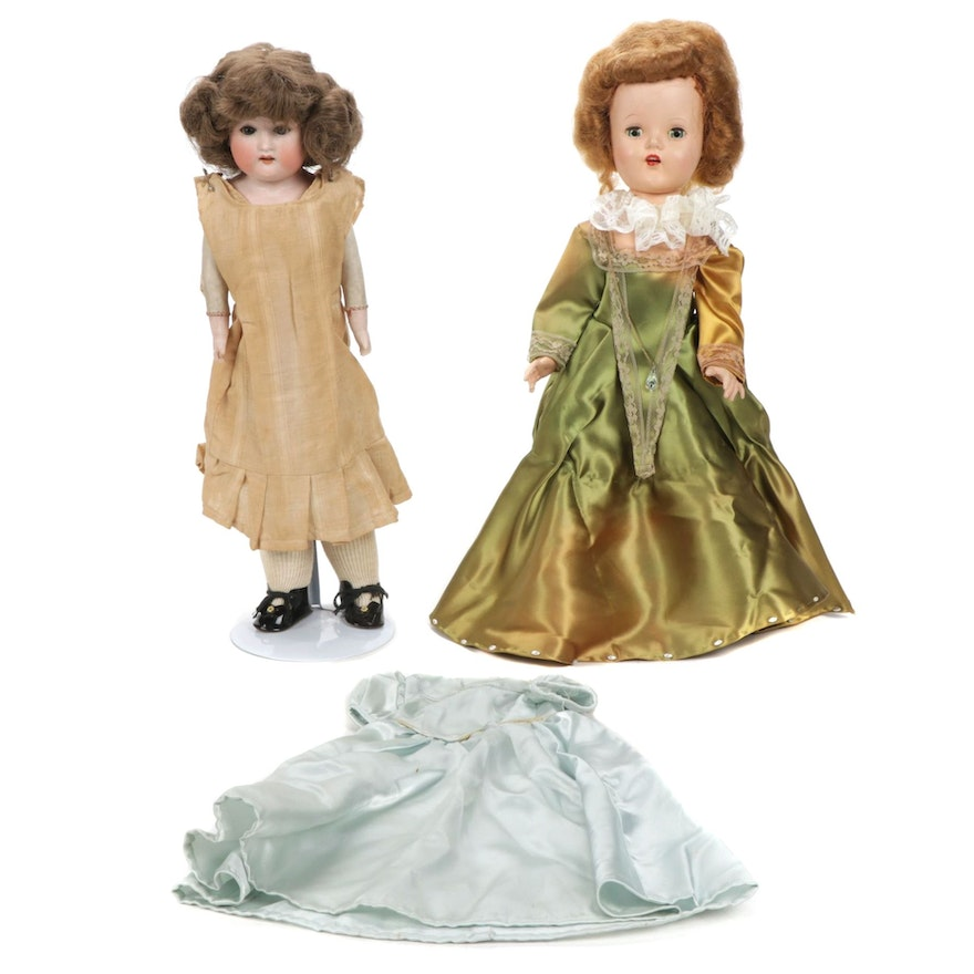 Two Dolls Featuring German Armand Marseille, with One Extra Dress, Antique
