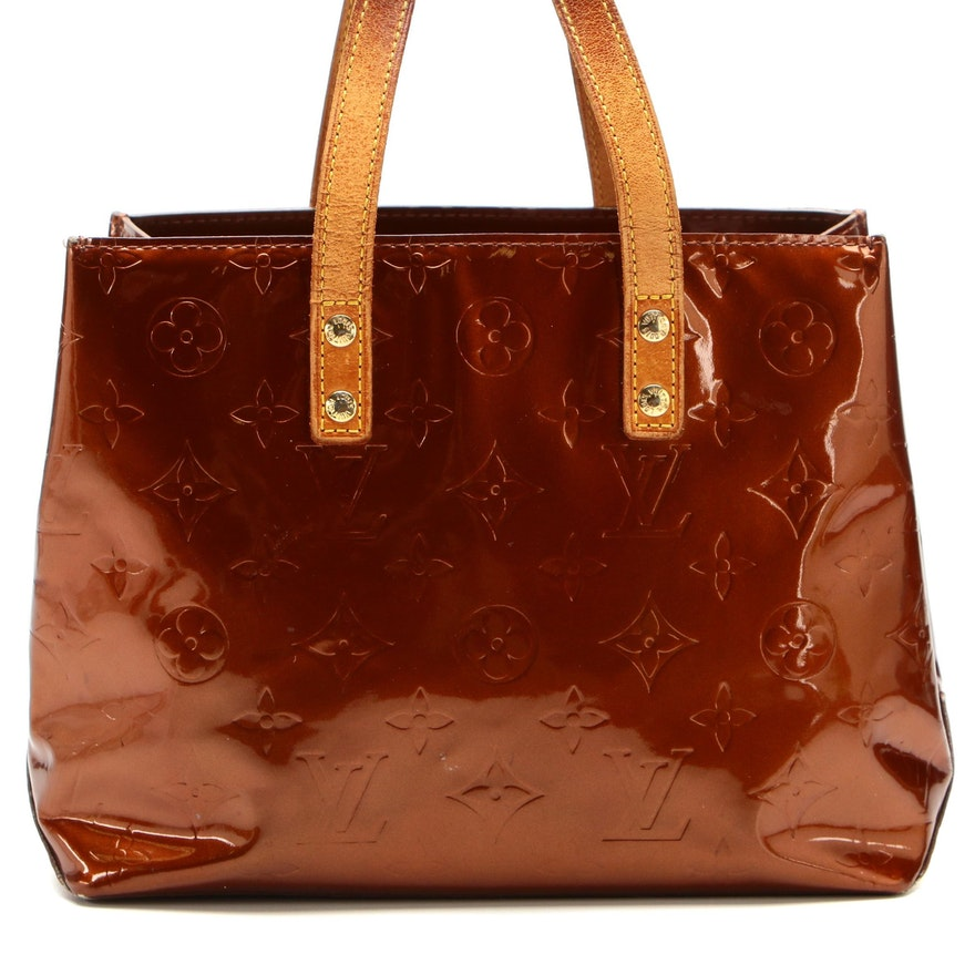Louis Vuitton Reade PM Tote in Bronze Monogram Vernis and Vachetta Leather