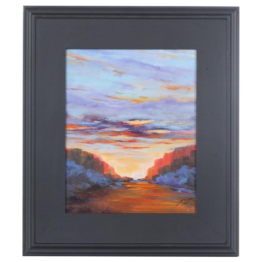 "Sanna Acrylic Painting ""Take My Breath Away,"" 2021"