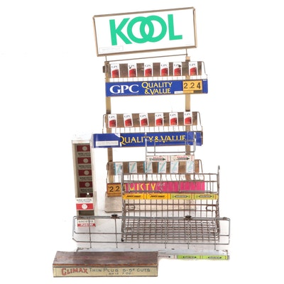 Kool, Wrigley's and Other Display Racks with Climax Tobacco Tin