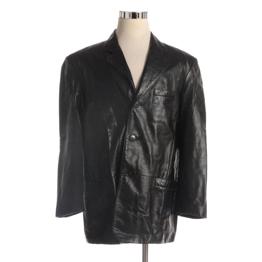 Men's Danier Black Leather Jacket