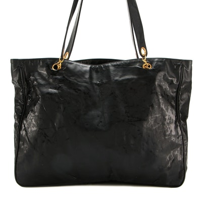 Chanel Tote Bag in Coated Canvas with Magnetic Snap Closure