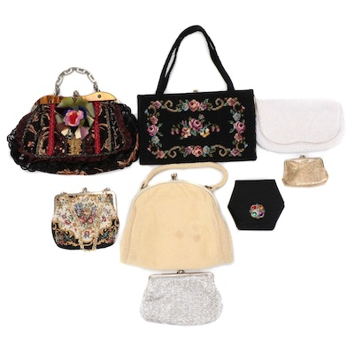 Embellished Flap Front and Frame Bags in Various Sizes and Styles