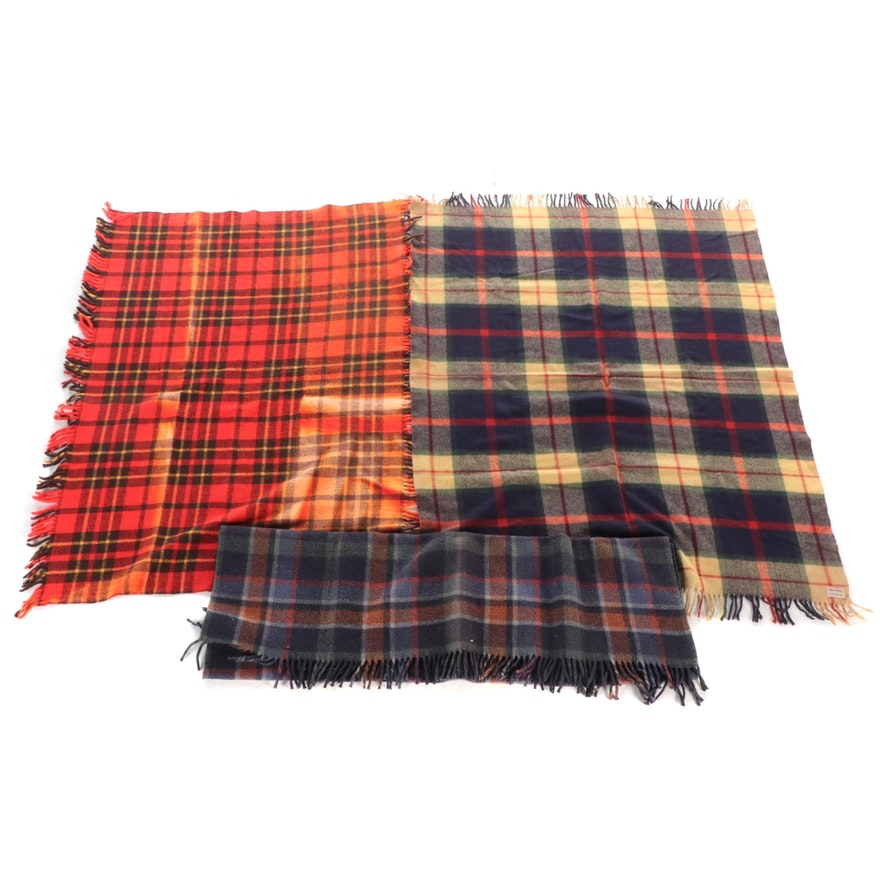 Troy Robe, Faribo Scotch Plaid and Other Plaid Woolen Blanket