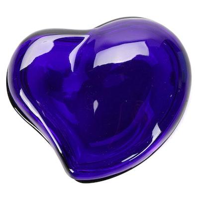 Elsa Peretti for Tiffany & Co. Cobalt Blue Heart-Shaped Glass Box