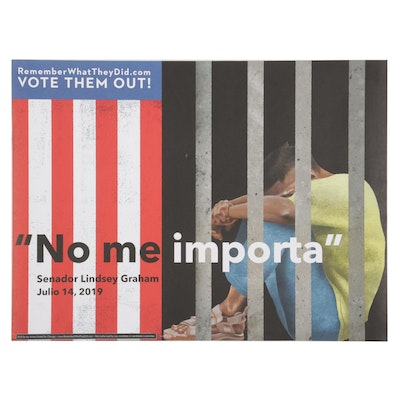"""Rafael López for Remember What They Did Offset Lithograph """"I Don't Care"""""""