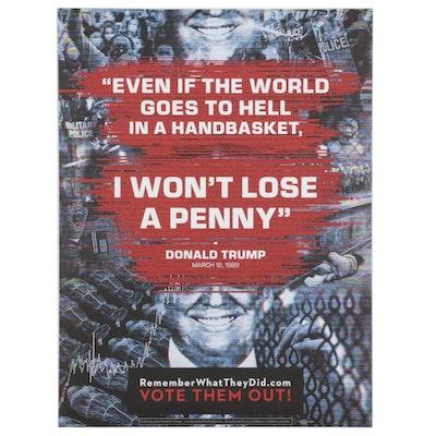 "Rob Sheridan Offset Lithograph ""I Won't Lose a Penny"""
