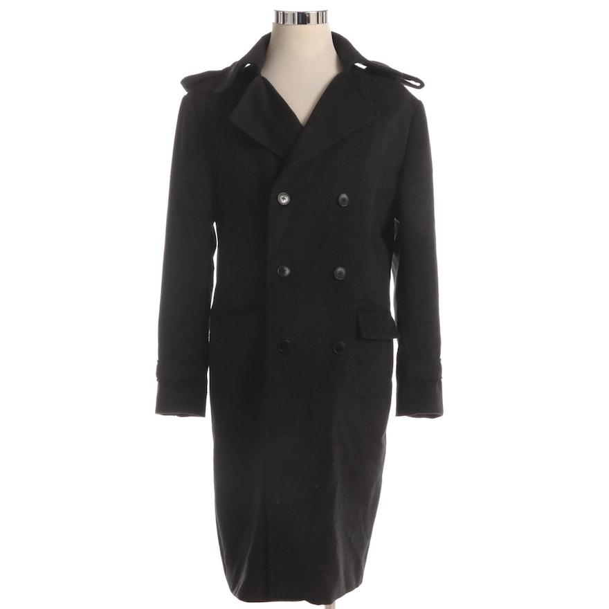 Men's Top-Ten Collection Bespoke Double-Breasted Overcoat