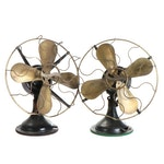 Westinghouse Oscillating Three-Speed Electric Tabletop Fans, circa 1910