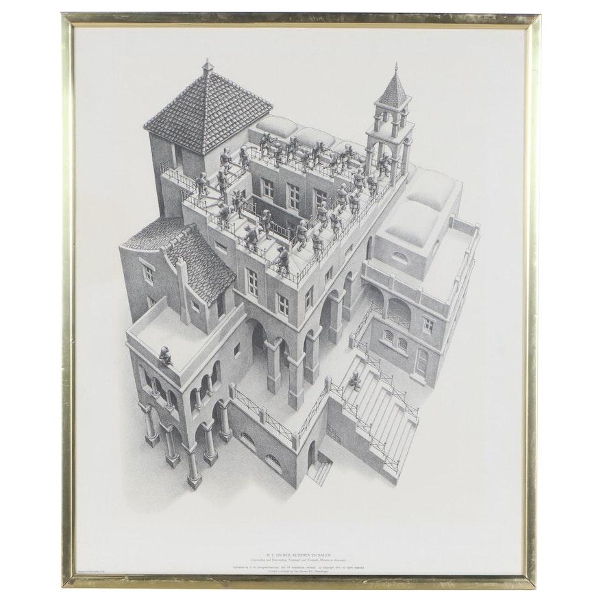 "Offset Lithograph After M.C. Escher ""Ascending and Descending,"" 1974"