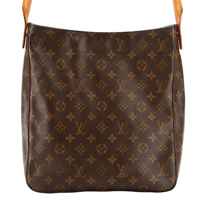 Louis Vuitton Looping GM in Monogram Coated Canvas and Vachetta Leather