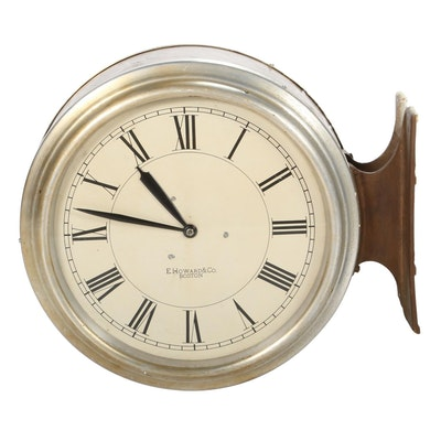 E. Howard Double Sided Electric Wall Clock, Early to Mid 20th Century