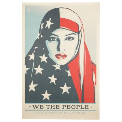"""Shepard Fairey for Amplifier Giclée """"We the People: Are Greater Than Fear"""""""